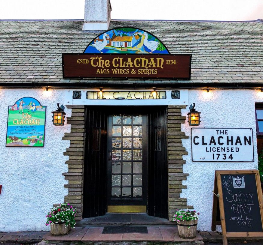 The Clachar, at Stcotland, one of the oldest british pubs