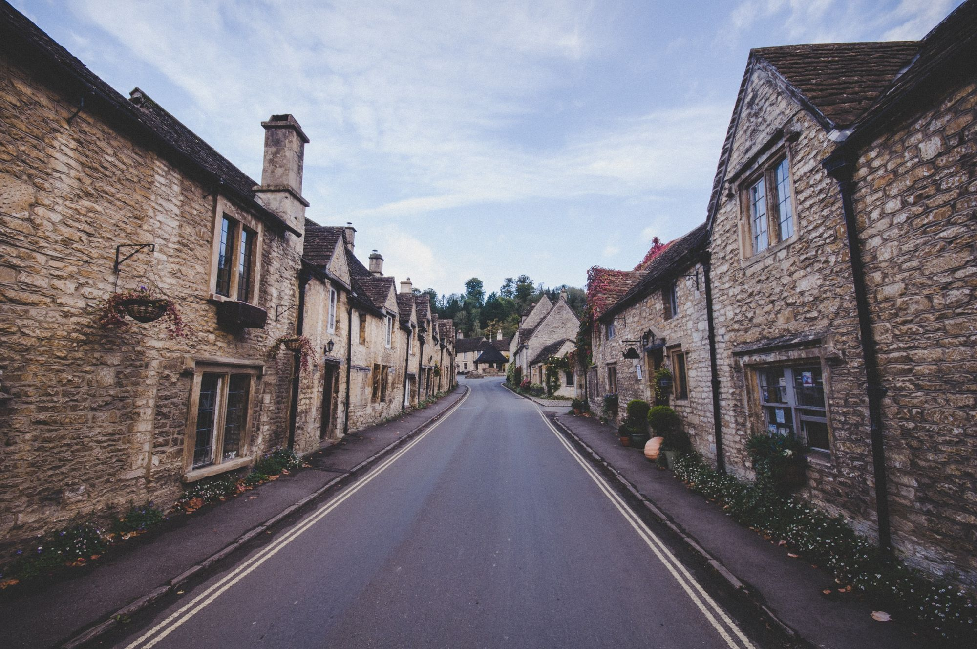 Street in Castle Combe, England