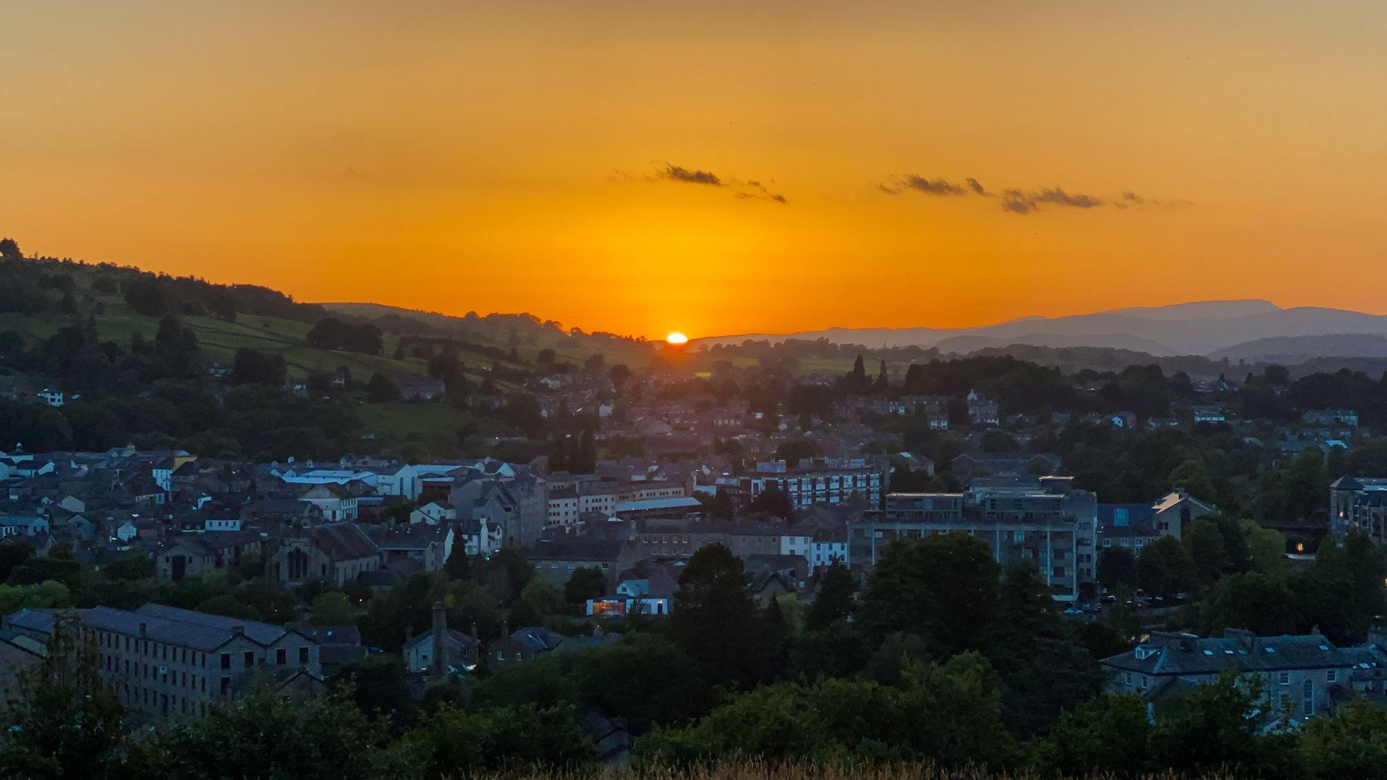 Sunset over Kendal, Lake District